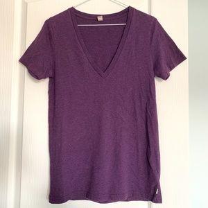 TNA Purple V-neck T-shirt